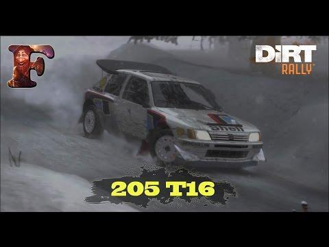 [Dirt Rally] - Peugeot 205 T16 - Sweden Bjorklangen - Career - SRBIJA (SERBIA)