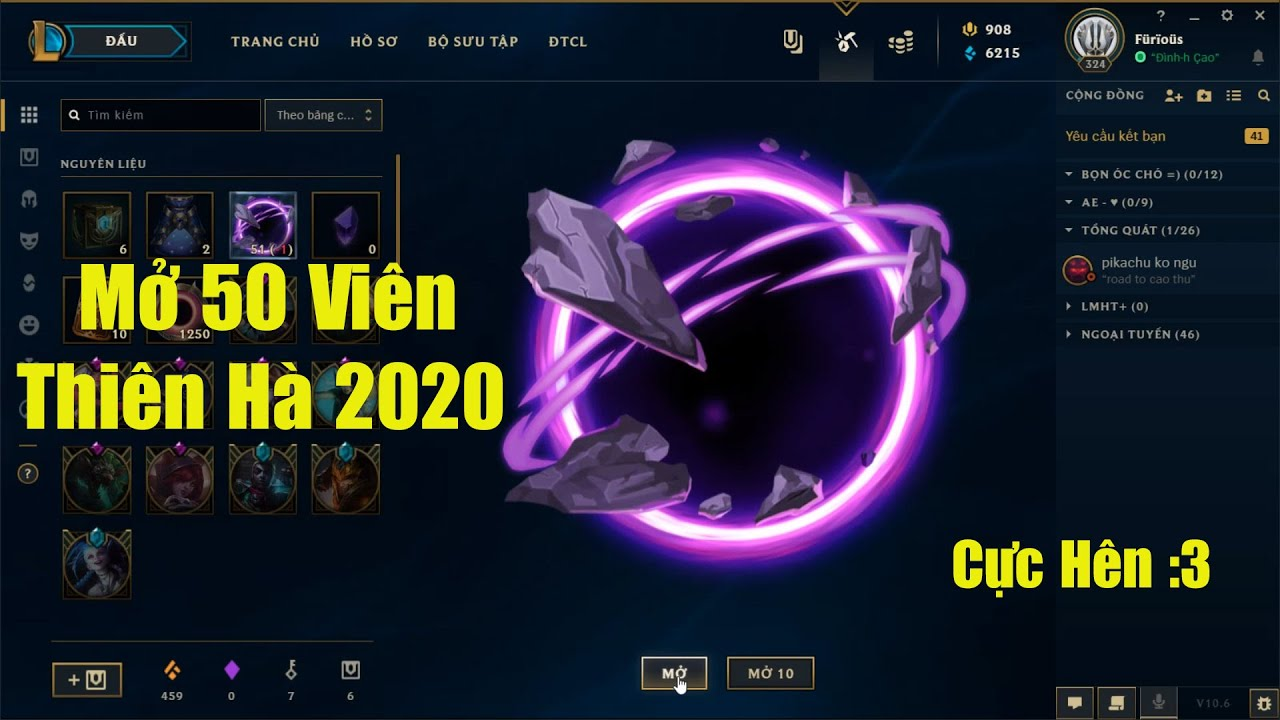 [LMHT] Chơi Lớn Tiêu 3000 RP Mở 50 Viên Thiên Hà 2020 Và Cái Kết Cực May Mắn :3 =))))))))