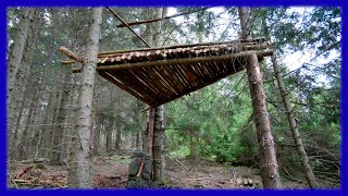 Bushcraft Camp: Treehouse - Outdoor Survival Shelter Lagerbau