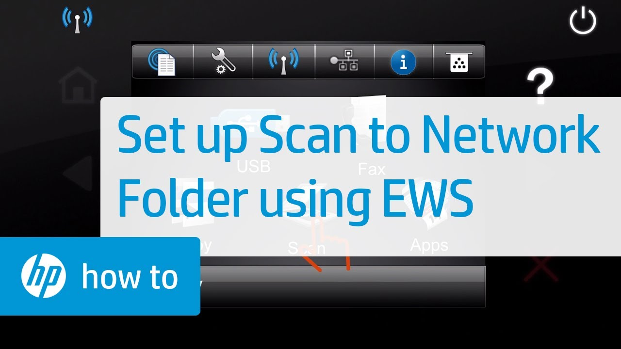 Set up Scan to Network Folder using HP Embedded Web Server (EWS) | HP  Printers | HP