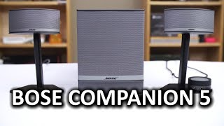 Video Bose Companion 5 Desktop PC Speakers download MP3, 3GP, MP4, WEBM, AVI, FLV Mei 2018