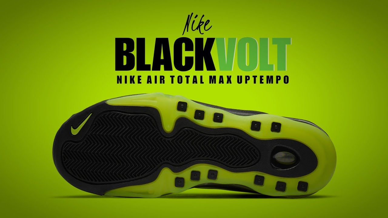 Elasticidad pañuelo Puerto marítimo  NIKE Air Total Max Uptempo BLACK VOLT 2020 DETAILED LOOK - YouTube
