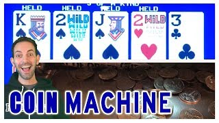 🏫Old School COIN Poker Machine ♠♣♥♦ Playing with a FAN & NorCal! 🎰 Brian Christopher Slots