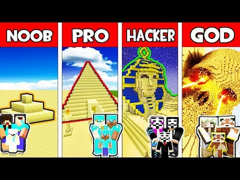 minecraft---noob-vs-pro-vs-hacker-vs-god-:-family-sand-base-in-minecraft-animation