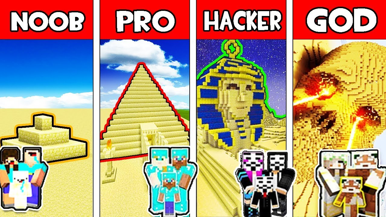 Minecraft - NOOB vs PRO vs HACKER vs GOD : FAMILY SAND BASE in Minecraft  Animation