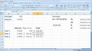 Finance Basics 2 - Compound Interest in Excel