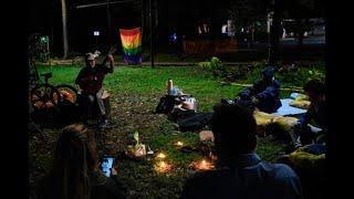 Ambientalistas pasan la noche en vela para proteger el túnel verde de Envigado