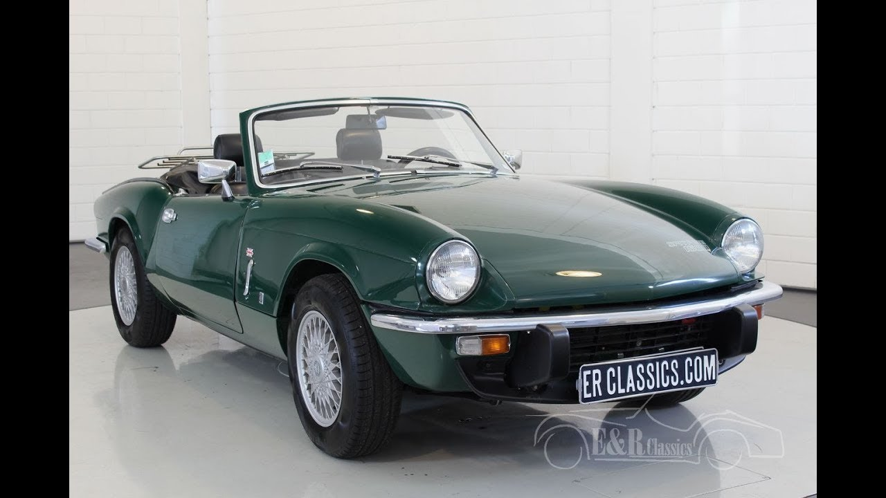 Triumph Spitfire cabriolet 1975 British Racing Green-VIDEO- www ...
