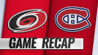 Petry, big 3rd help Canadiens topple Hurricanes, 6-4