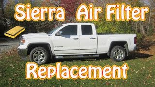 Diy How Replace Engine Air Filter Gmc Sierra Pickup Truck And Chevy Silverado
