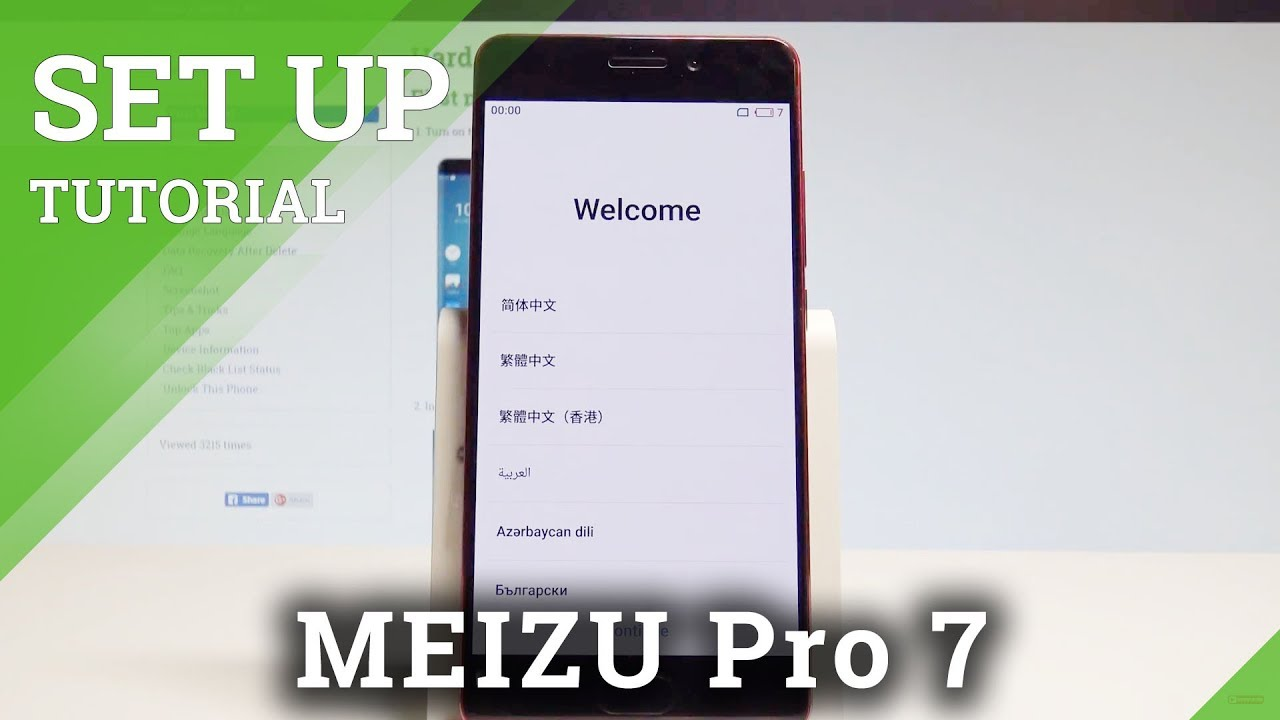 How to Set Up MEIZU Pro 7 - Flyme Activation / Configuration |HardReset Info