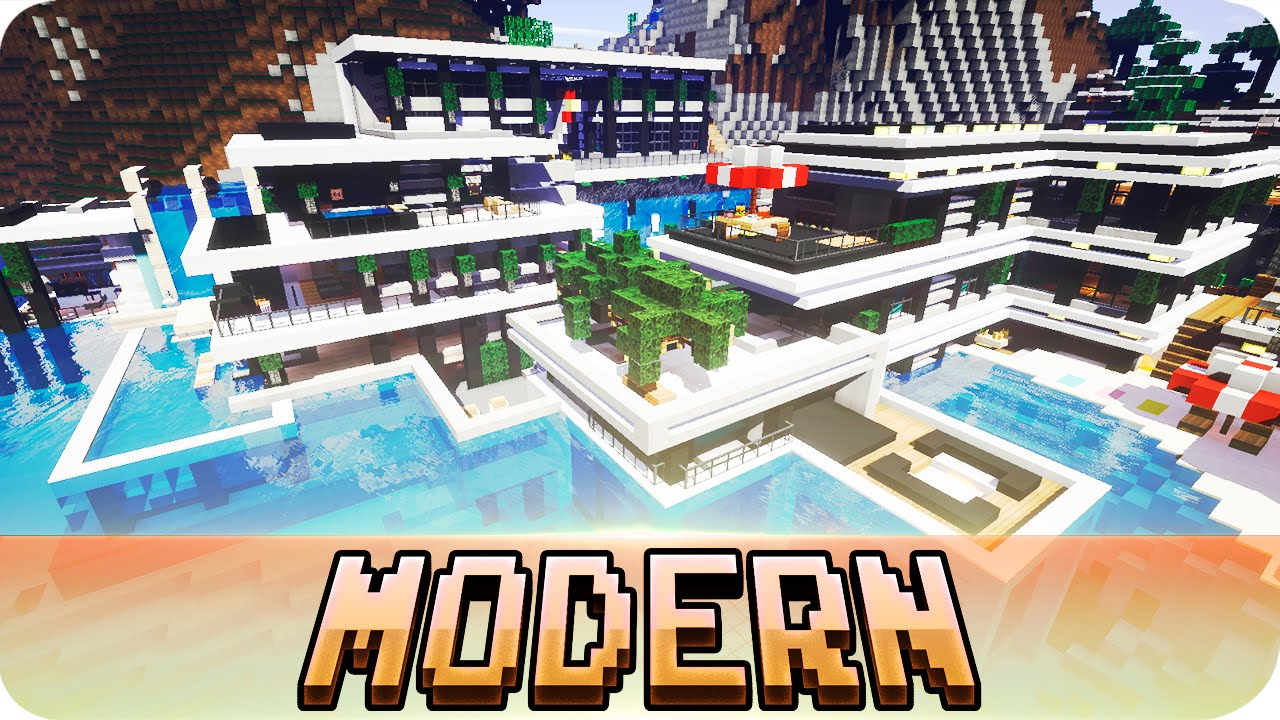 Minecraft Chicken Cove Modern House Map With Download Youtube