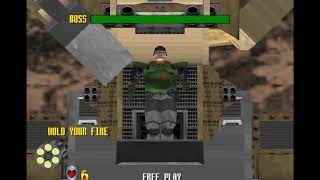 Virtua Cop 2 All Boss Battle Gameplay