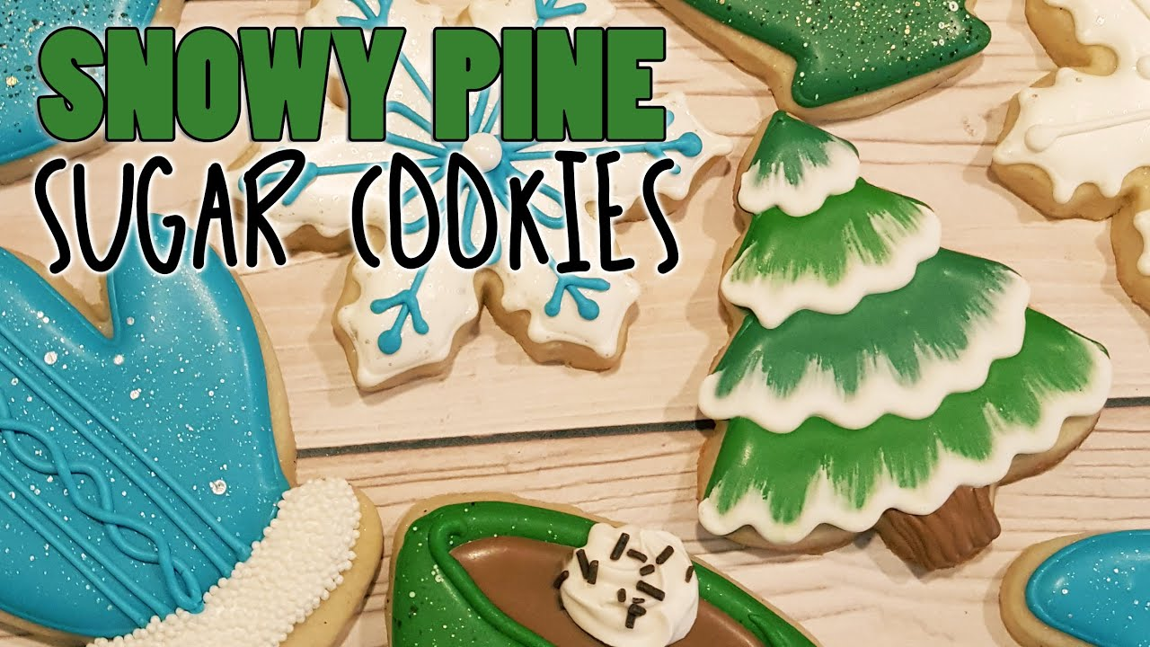Snowy Pine Tree Sugar Cookies On Kookievision By Sweethart Baking Experiment