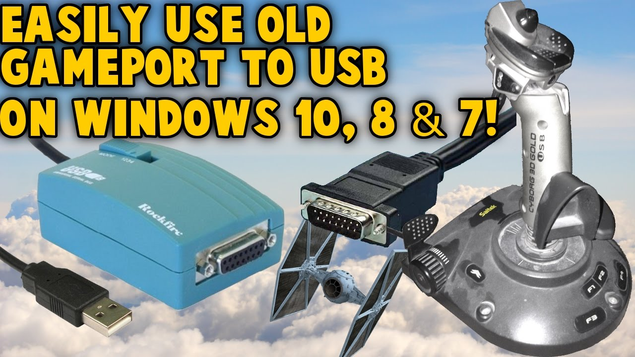 use old gameport joystick on windows 10 8 7 gameport to usb nest retro joystick controllers [ 1280 x 720 Pixel ]