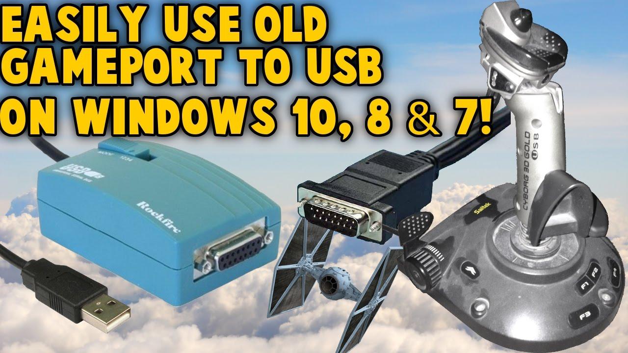 use old gameport joystick on windows 10 8 7 gameport to usb nest retro joystick controllers [ 1280 x 720 Pixel ]