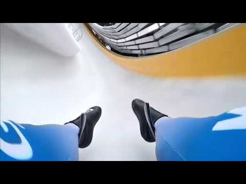 Slide Down The Olympic Luge Track In Sanki Sliding Center Sochi, Russia