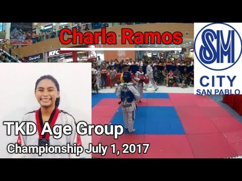 Taekwondo Philippines - Charla Wins Gold (R 1 & 2) TKD Age Group - SM City San Pablo Laguna