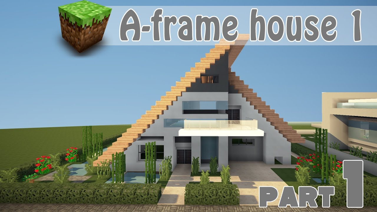 Minecraft - Speed Build House Building - A-frame house 1 ...