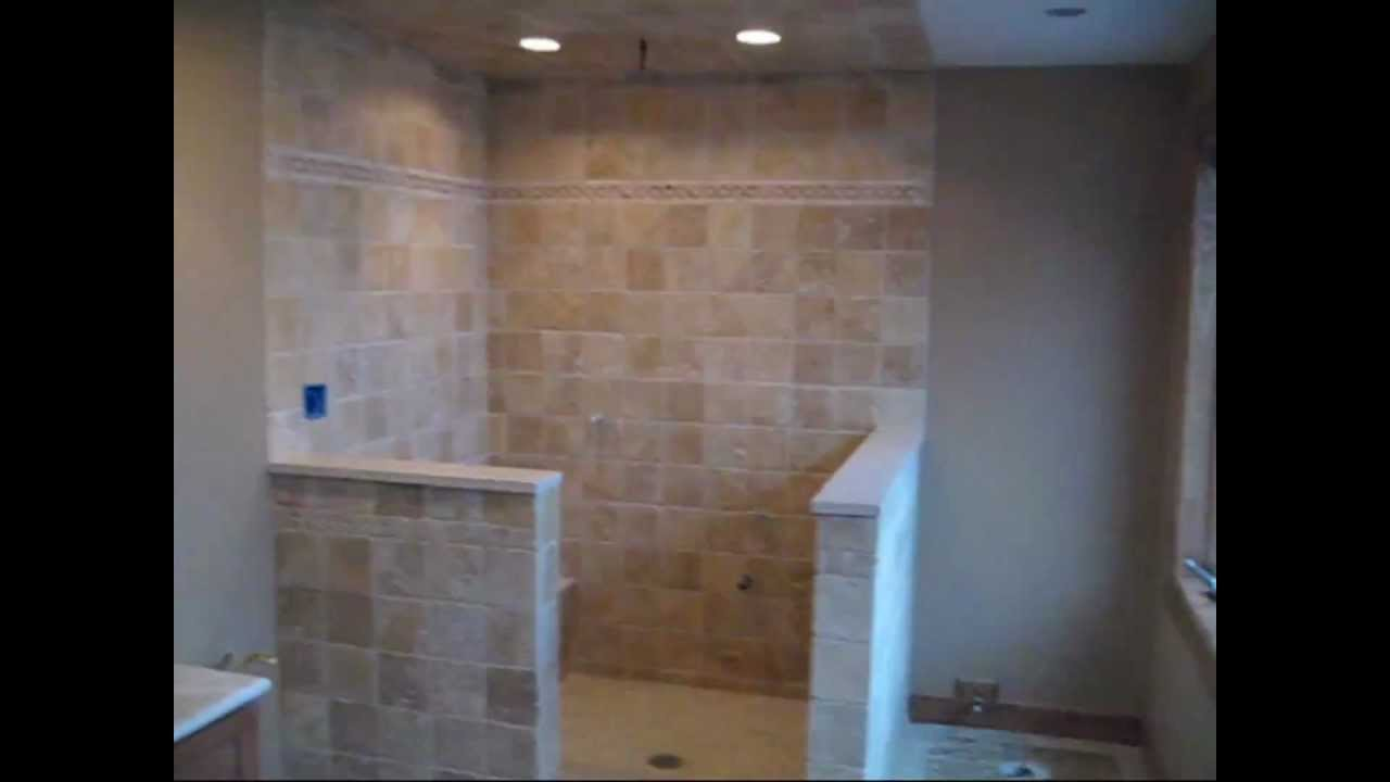 Limestone Travertine Tile Master Bathroom Youtube