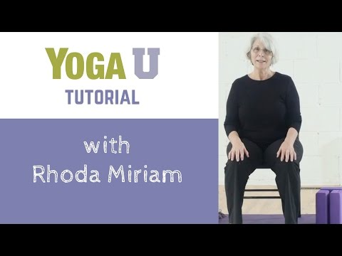 Tutorial with Rhoda Miriam | How to Use a Chair to Practice Yoga