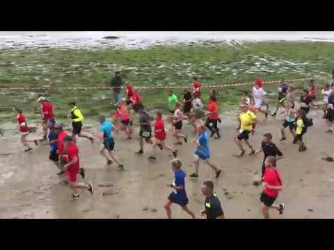 Départ de la course du Run 2018, St Vaast la Hougue - Tatihou