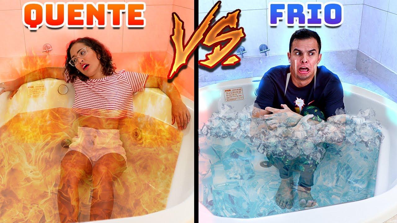 Download QUENTE VS FRIO MUITO INSANO!! - ELE PASSOU MAL! - DEU RUIM!