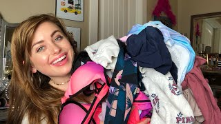 VICTORIA'S SECRET PINK CLOTHING, SWIMSUIT AND BEAUTY HAUL | VS PINK CAMPUS REP | Part 1