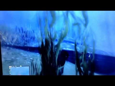 GTA V (Easter Egg UFO): Underwater glitch seabed exploration