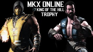 """Mortal Kombat X Online Gameplay King Of The Hill 1000 Respect Points Trophy """"Respected Fighter"""""""