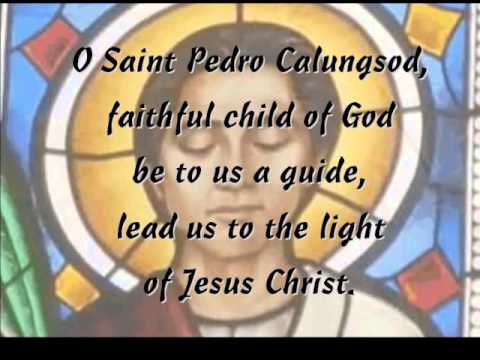 Song for Saint Pedro Calungsod - minus one with lyrics