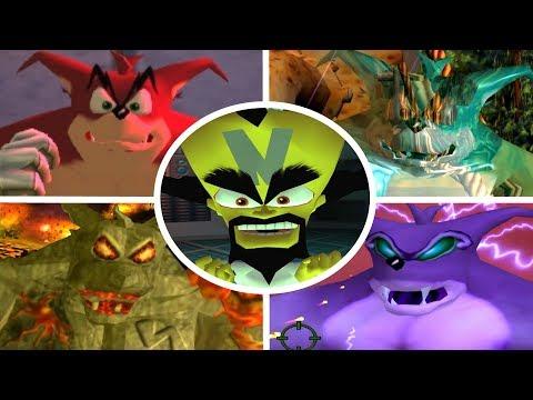 Crash Bandicoot Wrath of Cortex - All Bosses + Cutscenes (No Damage)