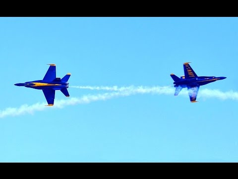 Blue Angels F/A-18 Hornets Play Chicken At Melbourne
