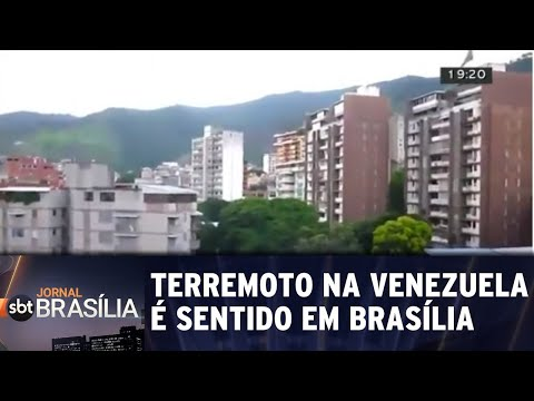Terremoto na Venezuela é sentido em Brasília | Jornal SBT Brasília 22/08/2018