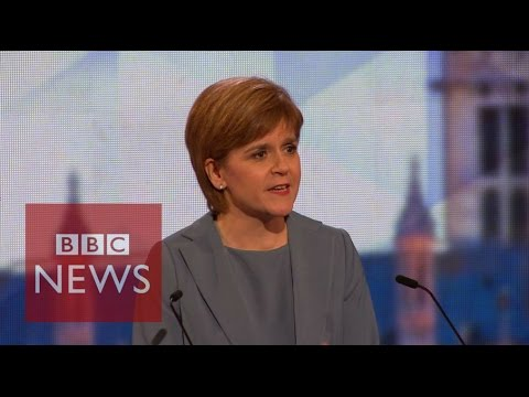 Nicola Sturgeon calls out David Cameron for not attending the election debate - BBC News