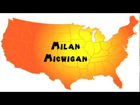 How to Say or Pronounce USA Cities — Milan, Michigan