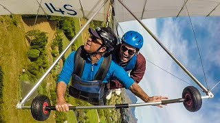 HANG-GLIDING OFF A MOUNTAIN!