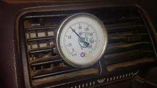 температура печки после доработки воздушных каналов ВАЗ 2110