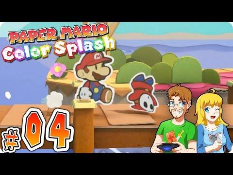 Paper Mario Color Splash Gameplay Walkthrough Part 4 Cherry Lake Cutting POWER (HD) Wii U