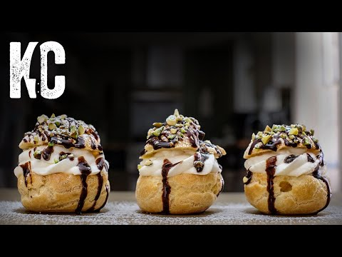 easy-cream-puffs-recipe-|-with-chantilly-cream-&-chocolate-ganache