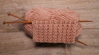Рельефная резинка спицами | Knit Elastic stitch