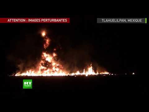 Mexique : le moment de l'explosion meurtrière d'un oléoduc (IMAGES PERTURBANTES)