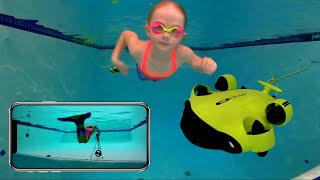 Swimming with the FIFISH V6 Underwater Robot