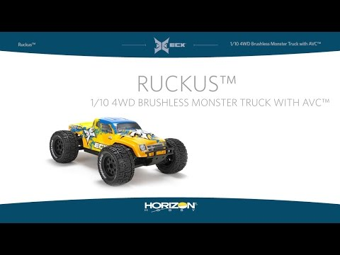 1/10 Ruckus™ 4WD Monster Truck with AVC™ from ECX®