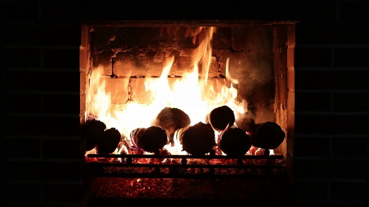 The Relaxing time Fireplace, crackling sounds, rain with ...