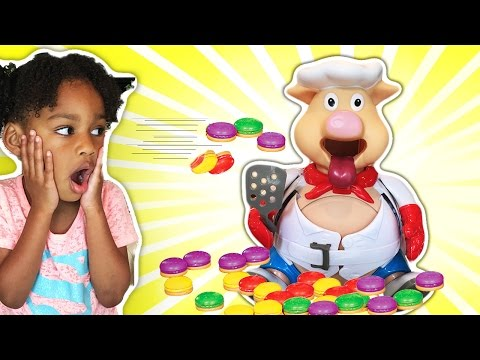 Pop The Pig Family Fun Game for kids Surprise Toys Shimmer and Shine | Naiah and Elii Toys Show