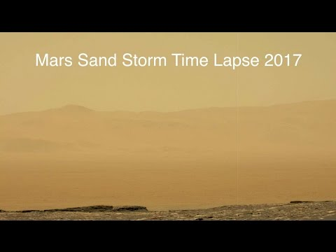 ∆ Mars Sand Storm Time Lapse 2017