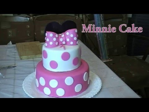 Minnie Mouse Cake tutorial YouTube
