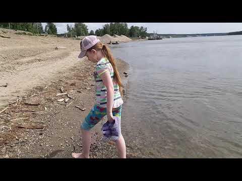 Наша река Обь.  Место отдыха дачников.Начало июня 2019.