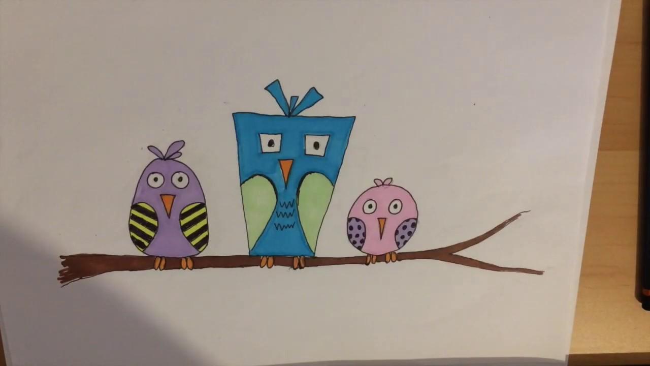 Frivilligt hjemmeskole-tegnekursus - dag 1: Tips til tegning og sjove fugle